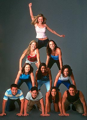 Tsianina Joelson Top - Torrance (Kirsten Dunst)Second row from left - Courtney (Clare Kramer), Missy (Eliza Dushku)Third row - Kasey (Rini Bell), Isis (Gabrielle Union), Big Red (Lindsay Sloane)Bottom - Jan (Nathan West), Cliff (Jesse Bradford), Darcy () a