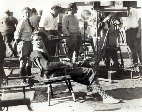 Howard Hughes - On the set