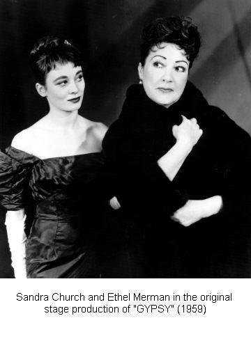 Gypsy Sandra Church And Ethel Merman In The 1959 Broadway Hit ''gypsy''