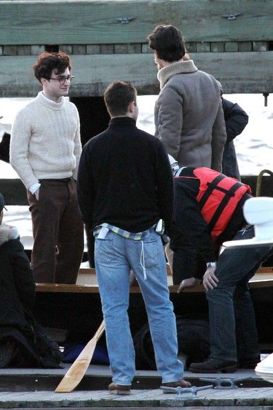 Daniel Radcliffe on the Set of 'Kill Your Darlings'