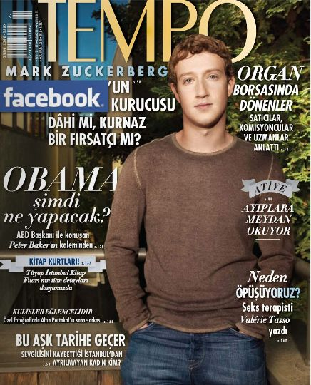 Mark Zuckerberg - Tempo Magazine Cover [Turkey] (November 2010)