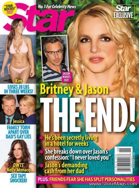 Britney Spears, Jason Trawick, Kim Kardashian, Jessica Simpson, Joe Simpson, Kelly Monaco - Star Magazine Cover [United States] (12 November 2012)
