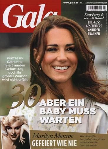 Kate Middleton - Gala Magazine Cover [Germany] (5 January 2012)
