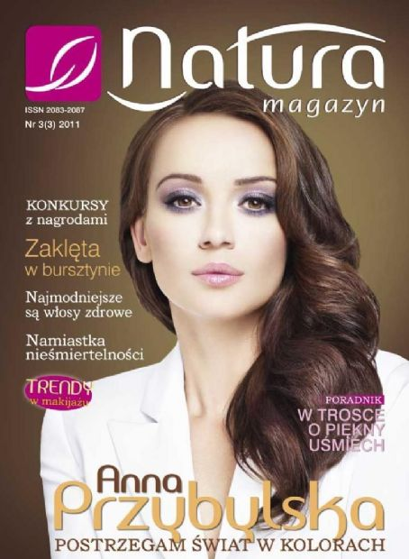 Anna Przybylska - Natural Magazine Cover [Poland] (November 2011)