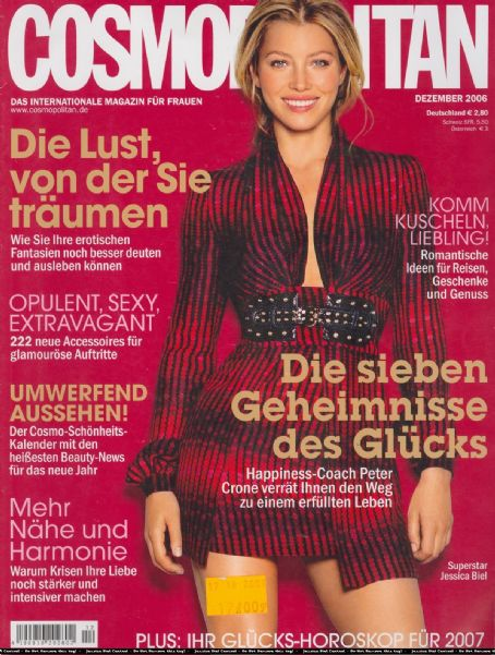 Jessica Biel - Cosmopolitan Magazine Cover [Germany] (December 2006)