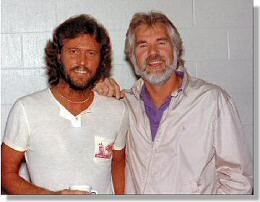 Barry Gibb  and Kenny Rogers