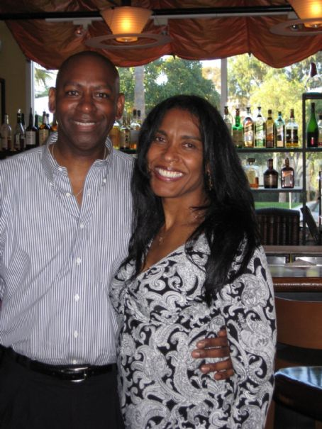 George Foreman 's ex-wife Sharon Goodson with new fiancee TV Writer Tony Colvin