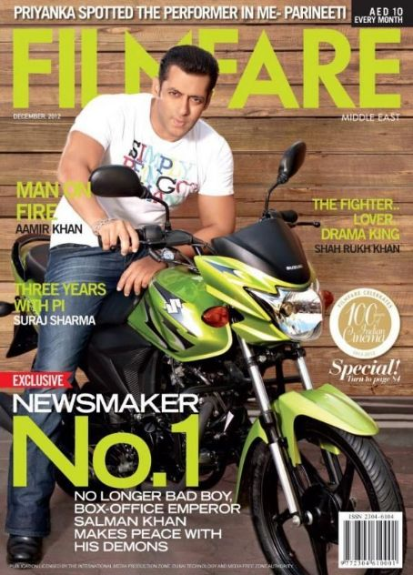 Salman Khan - Filmfare Magazine Cover [United Arab Emirates] (December 2012)